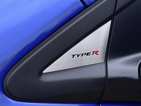 Dekor Emblem zwischen Becherhaltern Stahlabdeckung f/ür Civic IX 1 St/ück Kreisscheibe Platte Edelstahl Geb/ürstet Blenden Cockpit Dekor Mass Angefertigt