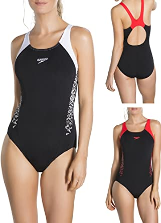 Speedo Women Boom Splice Muscleback Swimsuit: Amazon.co.uk