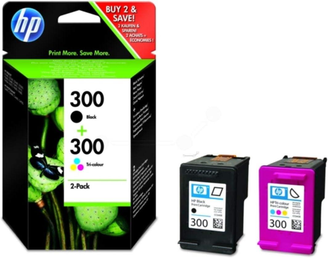 4ml - 300 Seiten schwarz, cyan, magenta, gelb Hewlett Packard DeskJet F 4224 300 // CN 637 EE#301 HP original HP - 2 x Druckkopf Multipack