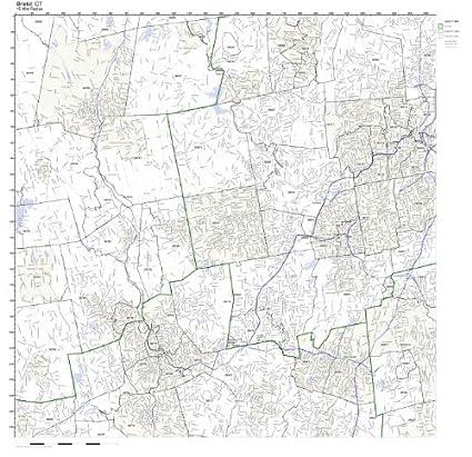Amazon.com: Bristol, CT ZIP Code Map Laminated: Home & Kitchen