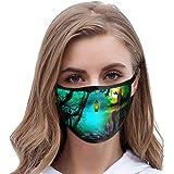 Halloween Print Unisex Face Bandana Dustproof Washable Reusable Stylish Face Bandana for Adult Men and Women