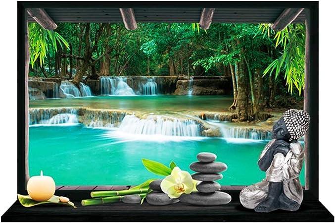Les Trésors de Lily P0372 - Pegatina trampantojo Jardin Zen gris - 50x70 cm.: Amazon.es: Hogar
