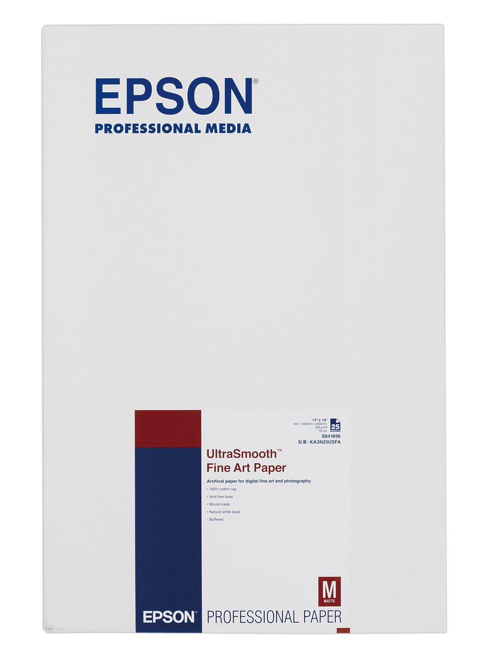Cotton Rag Paper Epson S041896 Ultrasmooth Fine Art Paper Paper Two-Sided Coated Pa