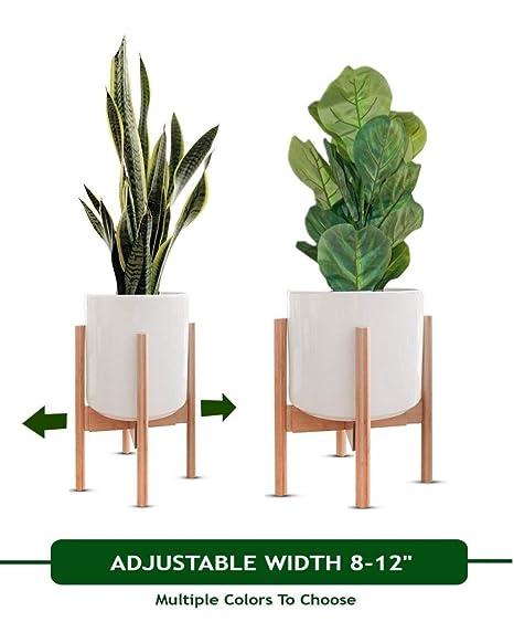 d9f08068bc70 MT Decor Mid Century Plant Stand   Adjustable Modern Indoor Plant Holder    Fits Medium to