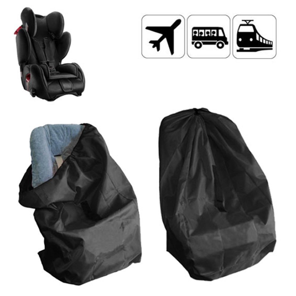 Taodou Baby Car Seat Travel Bag Airport Gate Check Bag with Strap and Drawstring Closure Black SEALOVESFLOWER SNDBY03