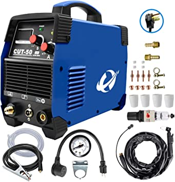 Plasma Cutter, CUT50 50 Amp 110V/220V Dual Voltage AC DC IGBT Cutting Machine