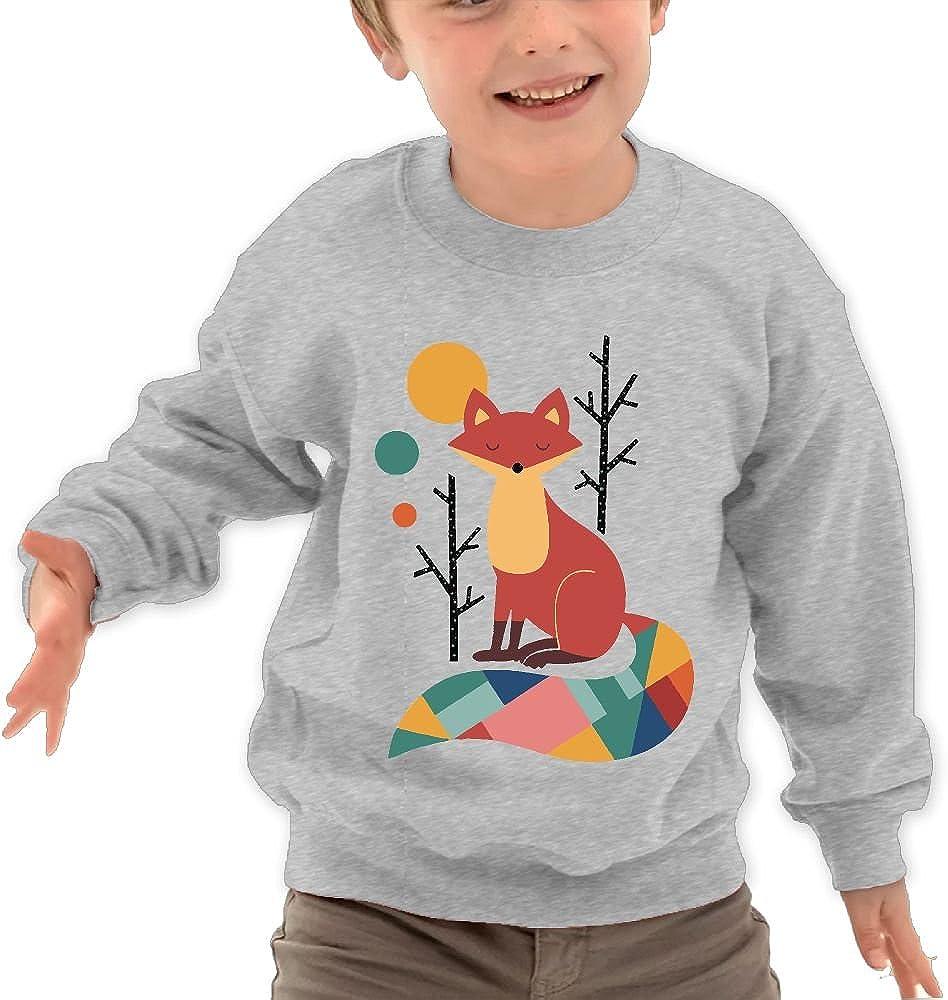 Rainbow Fox Childrens Cotton Sweatshirt Cool Long Outerwear