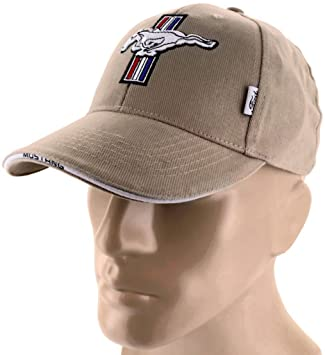 Ford Mustang Gt Tan Brown Baseball Cap Trucker Hat Snapback   Liter Cobra