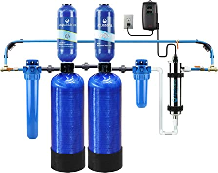 Aquasana EQ-Well-UV-PRO-AST 500,000 Gallon Well Water Whole House Filter with Salt-Free Softener and UV Filtration