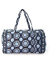 Floral Quilted Cotton Duffle Bag