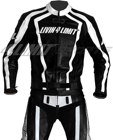 4LIMIT Sports Motorrad Lederkombi LAGUNA SECA Zweiteiler, schwarz weiß, Größe M