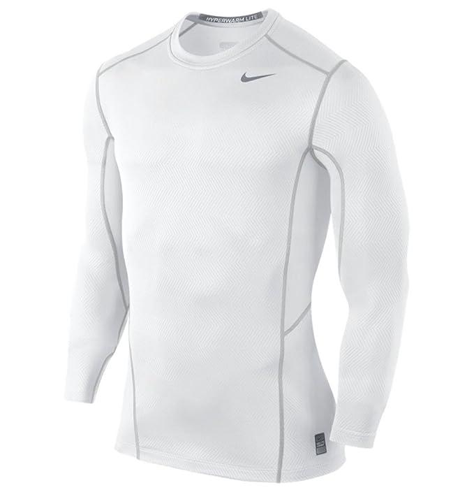 218fa8c2d18f8 Nike Hyperwarm Lite Fitted Manga Larga Crew Camiseta de - 618984 ...