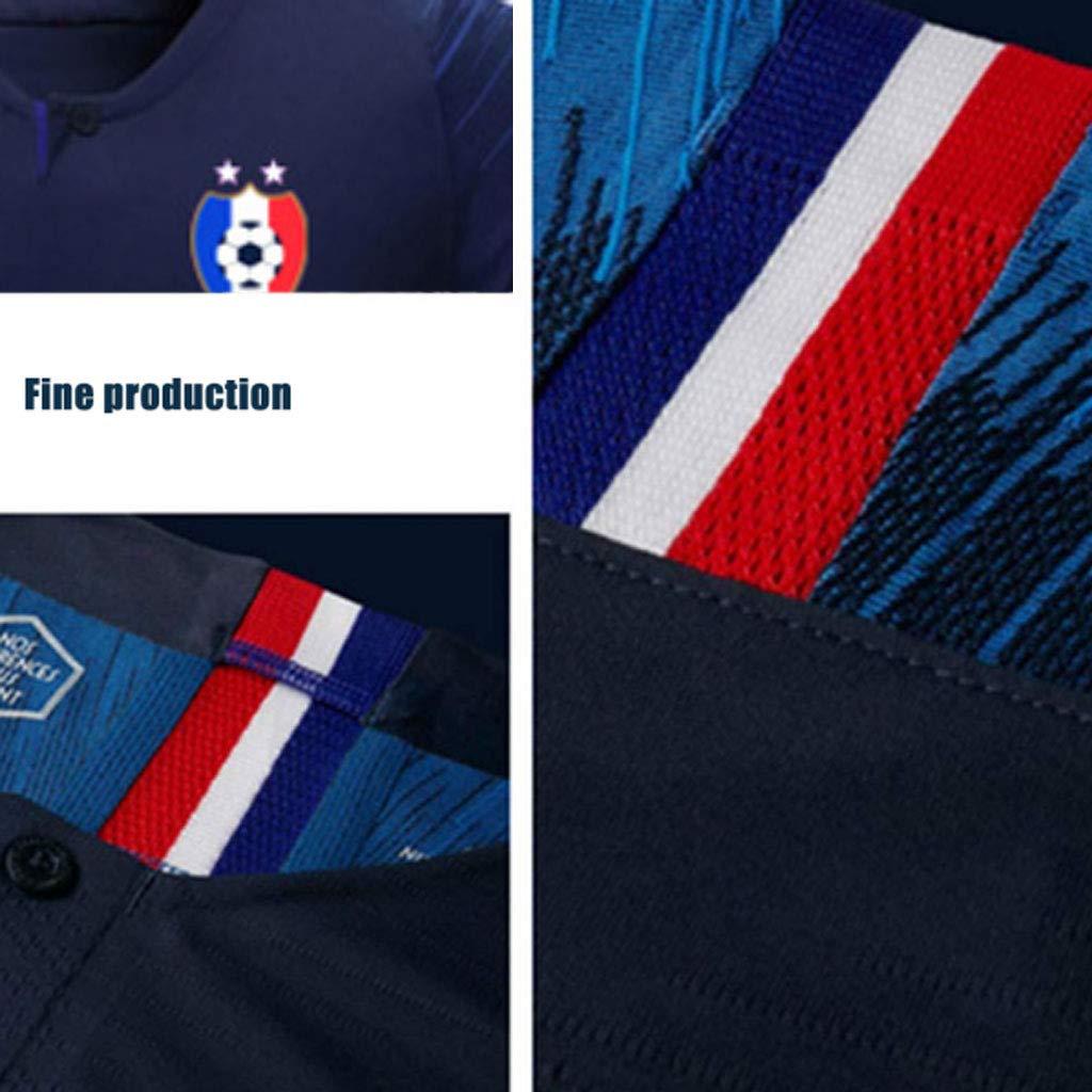 HAOHOAWU T-Shirt da Calcio Francia Tuta Sportiva Tuta da Calcio ...