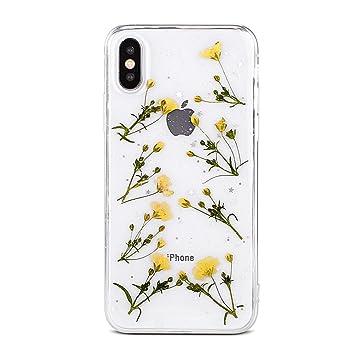 coque iphone xr transparente fleur