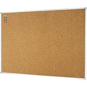 Amazon.com : Lockways Corkboard Bulletin Board - Double sided Cork ...