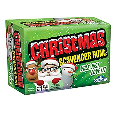 Christmas Scavenger Hunt Game - Includes 220 Cards with Holiday Themed Objects Found both Inside and Outside the Home (Ages 6+): Toys & Games