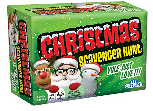 Christmas Scavenger Hunt Game - Includes 220 Cards with Holiday Themed Objects Found both Inside and Outside the Home (Ages 6+) (Best Scavenger Hunt Items)