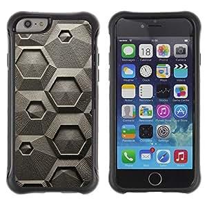 LASTONE PHONE CASE / Suave Silicona Caso Carcasa de Caucho Funda para Apple Iphone 6 / Chalk Macroscopic Microscope