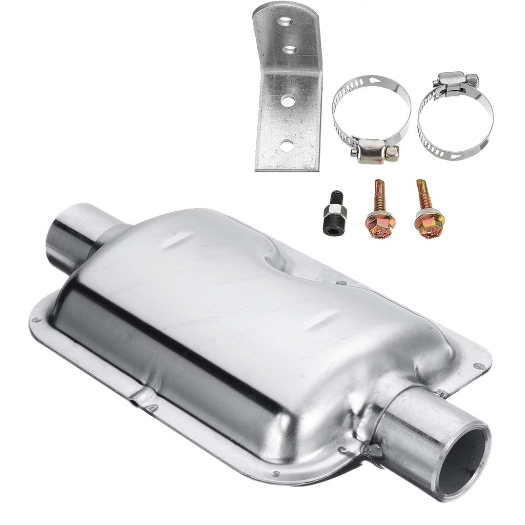 F Fityle Steel Exhaust Pipe Parking Heater Silencer System Muffler 24mm Durable for Eberspacher Air Heater