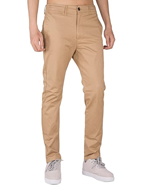 b1406dcd131bfc THE AWOKEN Uomo Chino Casual Pantaloni Business Slim Fit: Amazon.it:  Abbigliamento