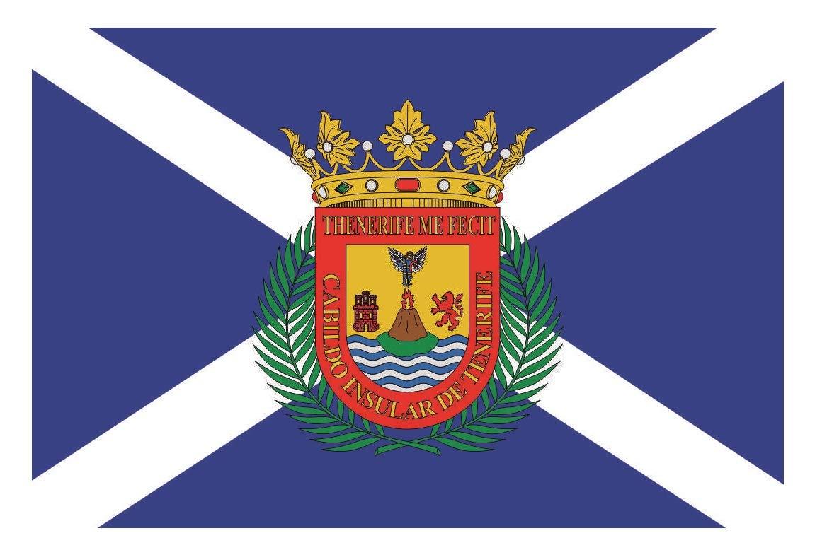 U24 Drapeau du Tenerife haute qualité pour bateau drapeau 150 x 250 cm