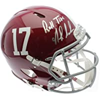 $661 » Nick Saban Autographed Signed Alabama Crimson Tide Speed Authentic F/S Helmets with Roll Tide Inscription - PSA/DNA Certified Authentic