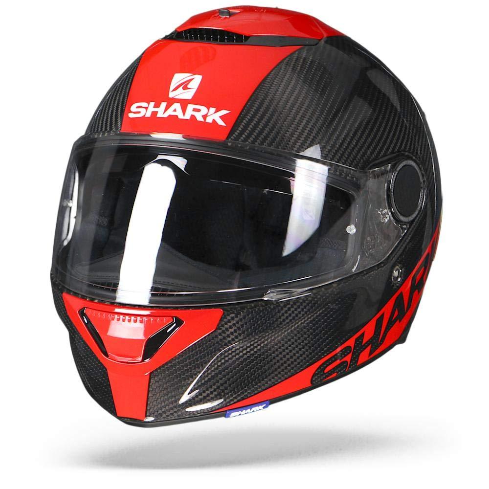 Noir//Blanc Shark Cascos de motocicleta SPARTAN CARBON 1.2 Piel DWS XL