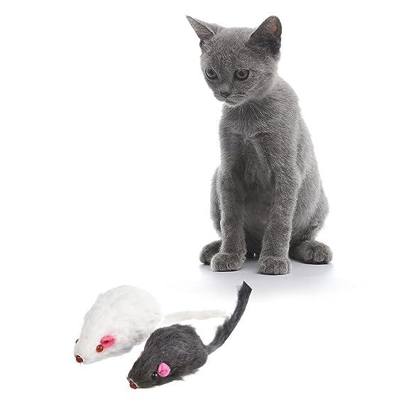 ATpart - 12 Juguetes para Gatos y Gatos con diseño de ratón, Juguete para Gatos y Gatos: Amazon.es: Productos para mascotas
