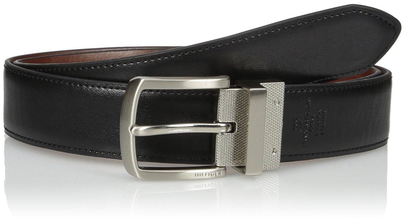Tommy Hilfiger Mens Vachetta Casual Reversible Belt