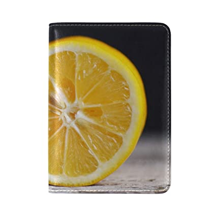 Orange Citrus Fruit Leather Passport Holder Cover Case Travel One Pocket