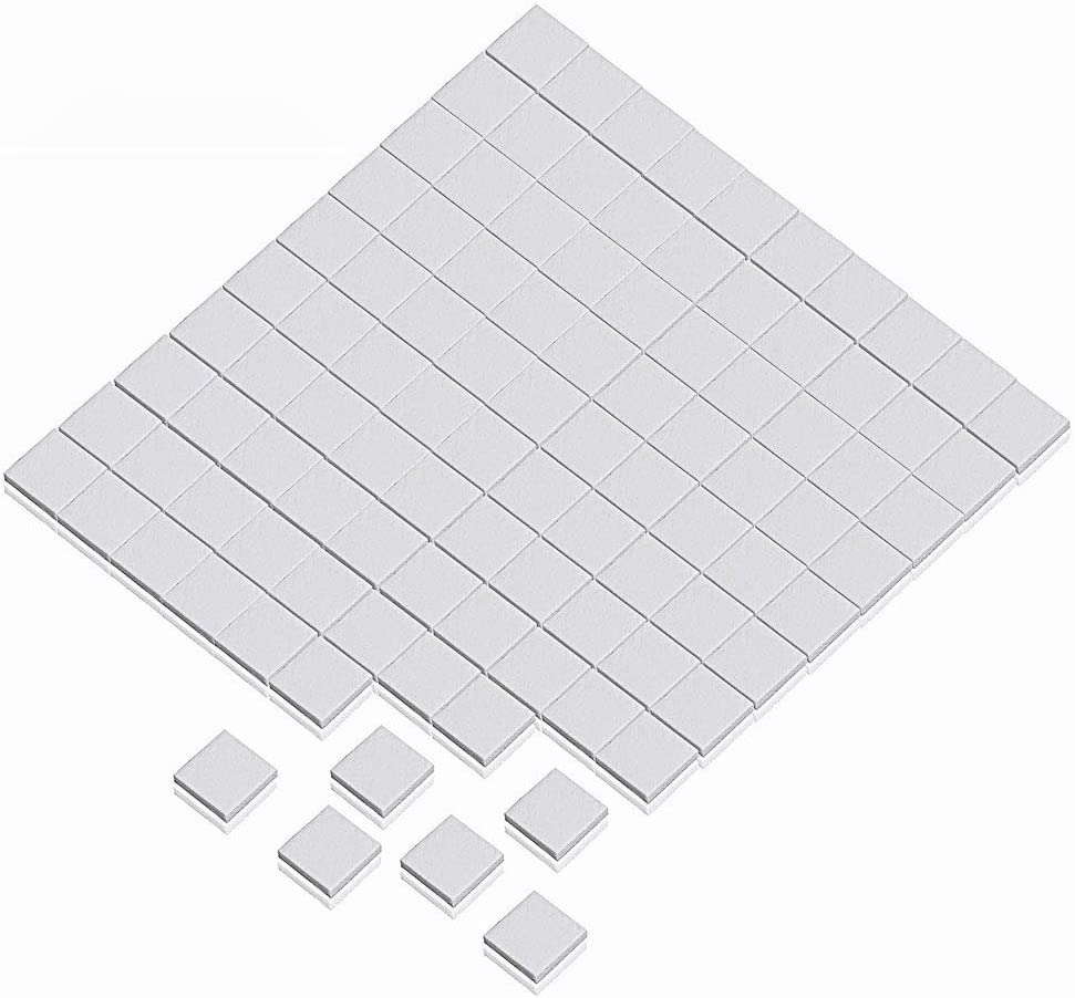 Wathai Off-White 100pcs 10x10x1mm Thermal pad For GPU CPU PS3 PS2 Heatsink Cooling Silicone Pad