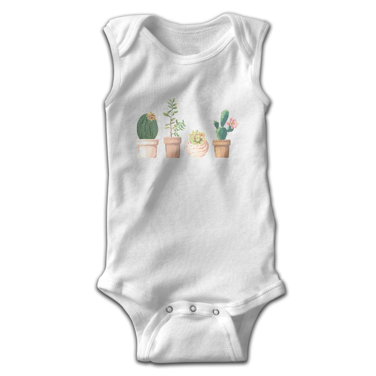 Dunpaiaa Cactus Newborn Crawling Suit Sleeveless Romper Bodysuit Onesies Jumpsuit Black