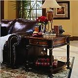 preston end table - Hooker Furniture Preston Ridge End Table in Black Rub-Through