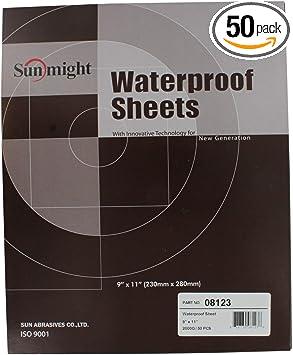 50//Box Plain Sheet 2000 Grit Sunmight Waterproof 9 in x 11 in
