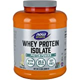 NOW Sports Whey Protein Isolate Natural Vanilla, 5-Pounds
