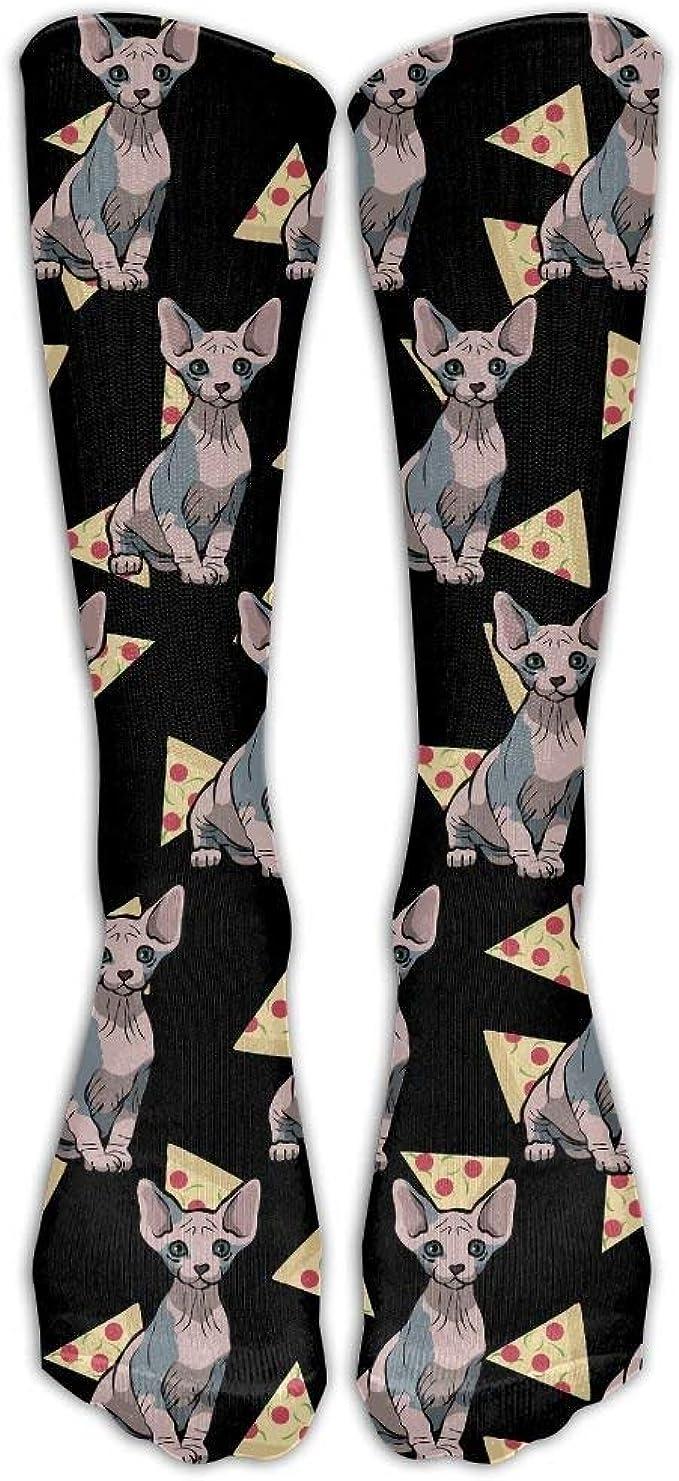 Gorgeous Socks Pizza Food Sphynx Cat Thin Crew Calcetines Calcetines de tubo Vestido de novedad Calcetines para mujer Hombre: Amazon.es: Ropa y accesorios
