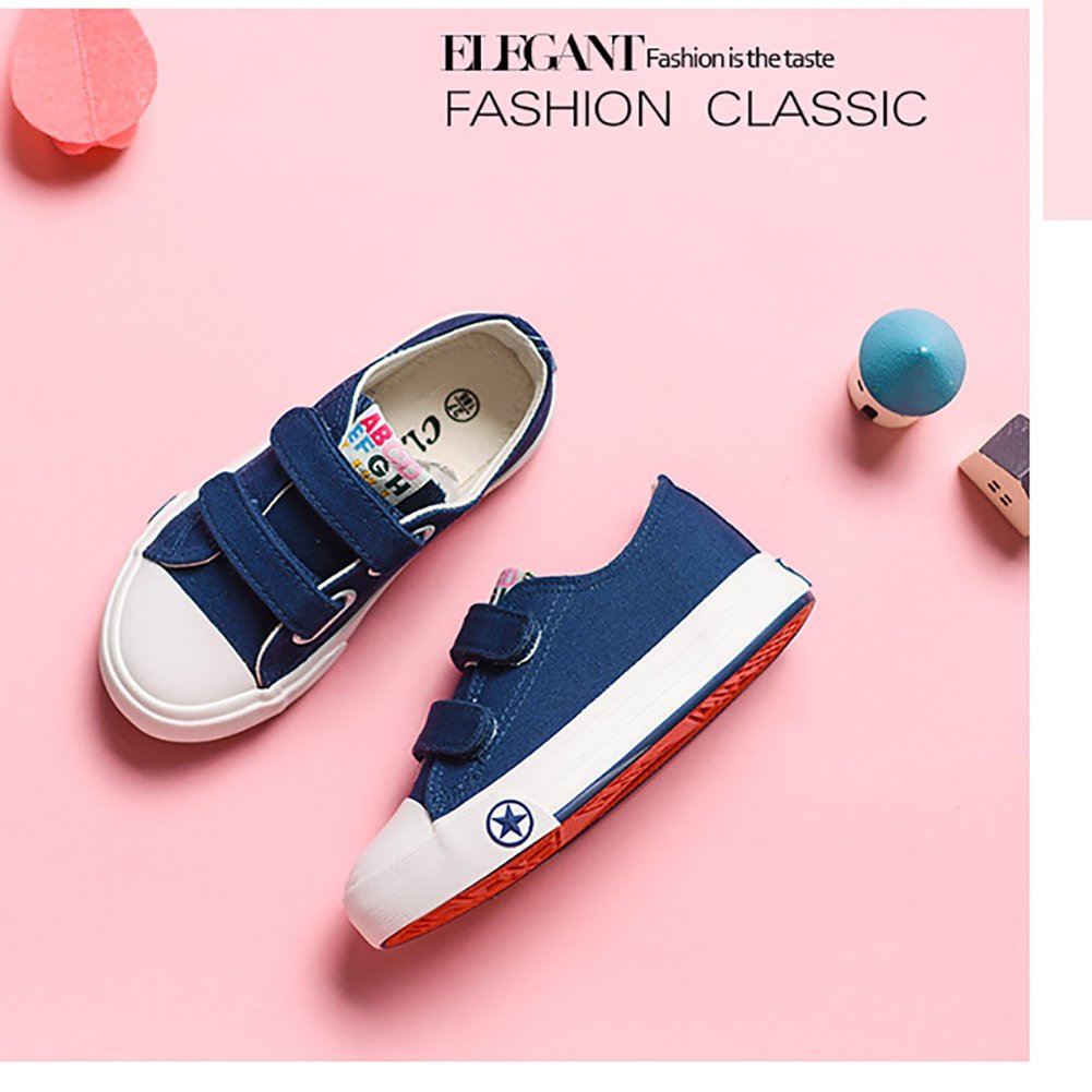 LANXI Kids Breathable Canvas Shoes Casual Sneakers for Girls Boys