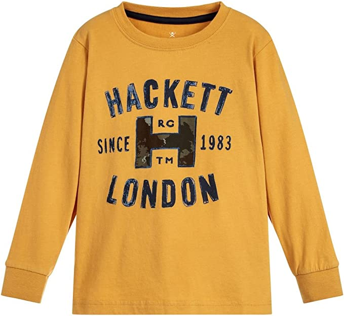Hackett London - Camiseta de Manga Larga - para Niño: Amazon.es ...