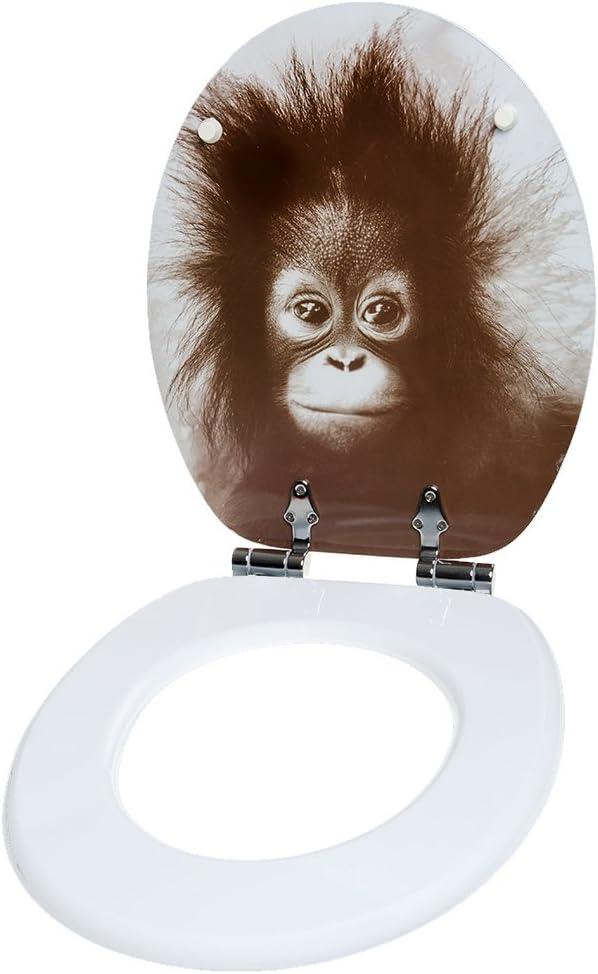 Abattant WC frein de chute soft close Finition de haute qualit/é Singe Fixation facile