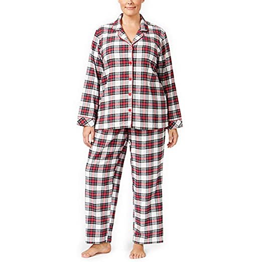 18446d464e37 Charter Club Plus Size Printed Flannel Pajama Set