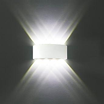 Wandleuchte Innen Modern Weiß 8W LED Wandlampe Aluminium IP65 ...