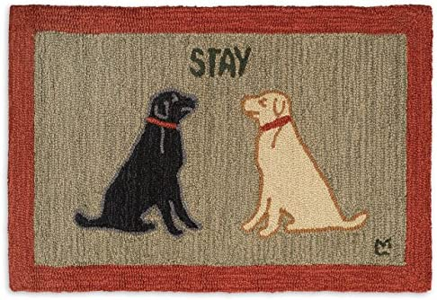 Chandler 4 Corners Artist-Designed Labs Staying Hand-Hooked Wool Accent Rug 2 x 3
