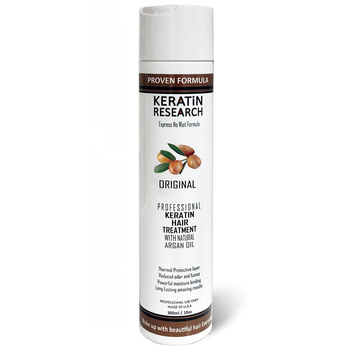 Brazilian Keratin Hair Treatment 300ml Professional Complex Blowout with Argan Oil Improved Formula and Fragrance Keratin Research Queratina Keratina Brasilera Tratamiento