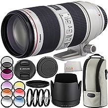 Canon EF 70-200mm f/2.8L IS II USM Lens 11PC Filter Kit. Includes Canon EF 70-200mm f/2.8L IS II USM Lens + 3PC Filter Kit + 4PC Closet Up Lens Set + 6PC Graduated Filter Kit + More - International Version (No Warranty)