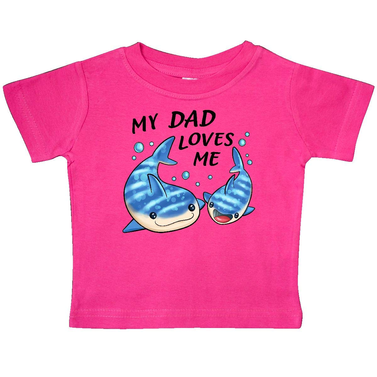 Whale Shark Baby T-Shirt inktastic My Dad Loves Me