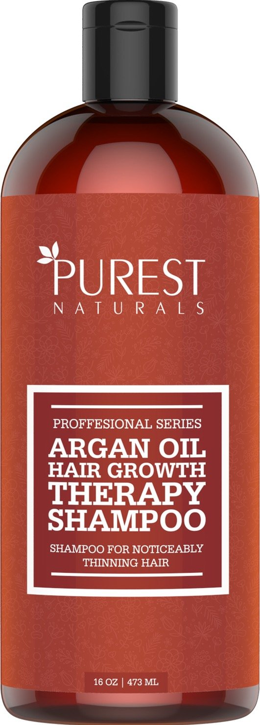 Purest Naturals Organic Argan Oil Hair Loss Shampoo For Hair Regrowth - Best Natural Treatment For Hair Loss & Thinning - For Men & Women - Anti Aging Hair Care