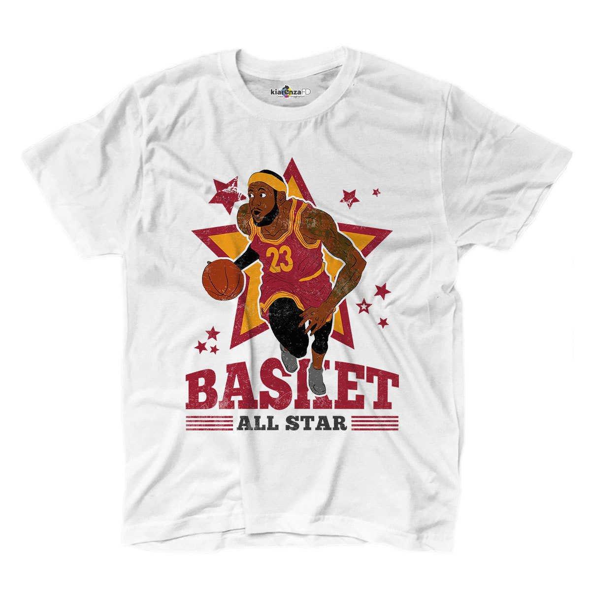 Camiseta camiseta Baloncesto Vintage parodia Le Bron All Star King ...