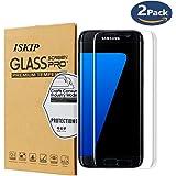[Paquet de 2] Protecteur d'écran ISKIP pour Samsung Galaxy S7 Edge, film de protection d'écran anti-empreintes digitales 3D. Protecteur d'écran pour Galaxy S7edge-Not Glass
