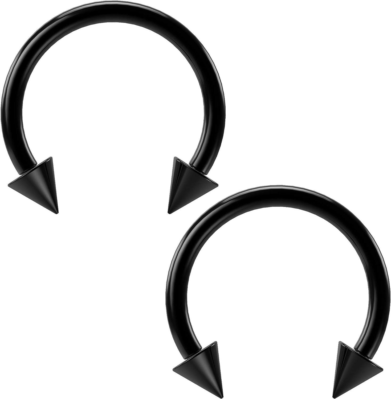Ruifan 316L Surgical Steel CBR Horseshoe Circular Rings Nose Eyebrow Tragus Lip Ear Hoop Ring Piercing 20G 8MM 10MM 12-24PCS
