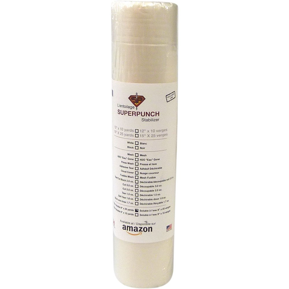 Adhesive Sew N Wash Embroidery Stabilizer 9 Inch X 10 Yards